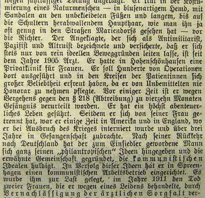 Tempelhof Mariendorfer Zeitung 25.10.1921