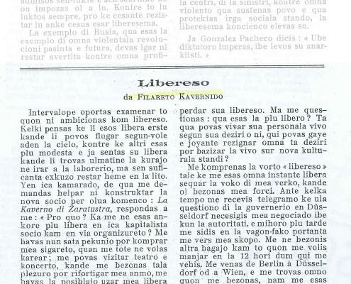 Libereso, No. 17 , Juli 1923, S1 von 2